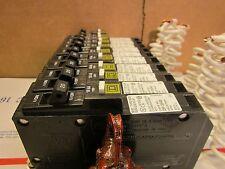 SQUARE D QOB120CAFI 20A AMP COMBINATION ARC FAULT BREAKER EACH