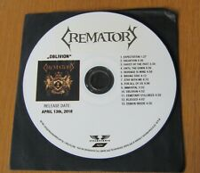Crematory (Band) - Oblivion 100% Official Promo CD Steamhammer