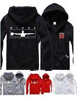 Mens Hoodie Michael Jordan Wings Hooded Jacket Men Zip Up Sweatshirt Jumper Coat
