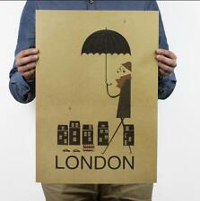 Rain in London / Simple Creative / Kraft Paper Poster / Decorative Painting