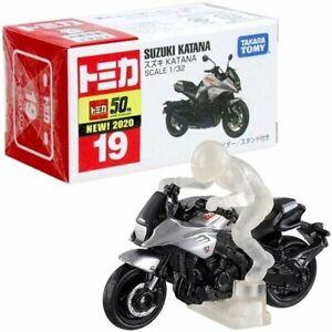 Takara Tomy Tomica No.019 Suzuki Katana Mini Diecast Toy Car w/ rider and stand
