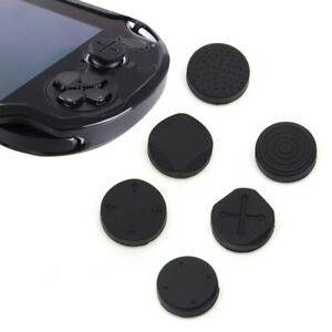 6x Silicone Analog Thumb Stick Grips Cap Cover For PSV 1000 2000 PS Vita