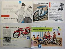 Original Werbeprospekt Broschüre NSU Quickly Motorrad Moped um 1960 DKW Audi xz