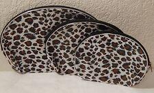 3 Pk Makeup Bags Cheetah Animal Print New By Iris Accessories  Cosmetic Bag