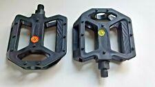 "Feimin FP-850 Mountain MTB BMX Bike Platform Flat Pedals 1 pair Black 1/2"""