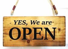 OPEN WELCOME Shop Sign for Business Cafe Bar Pub Door Hanging Display Window Ne.