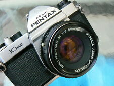 PENTAX K1000 CAMERA W/ PENTAX 50MM F2 LENS *TESTED MANUAL 35MM SLR CAMERA MINT-