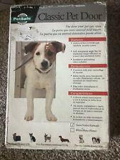 """Pet Safe Classic Pet Door Small Pet 1-12 lb 5"""" x 7"""" Flap Satin Heavy Duty in box"""