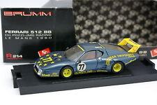 Brumm 1/43 - Ferrari 512 BB Le Mans 1980 Nº77