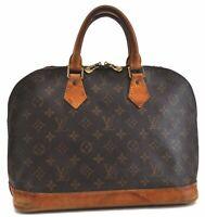 Authentic Louis Vuitton Monogram Alma Hand Bag M51130 LV B5706