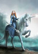 NEW JOURNEYS START UNICORN  ANNE STOKES FANTASY ART BIRTHDAY GREETING CARD