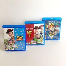 Disney Pixar Toy Story 1-3 Blu-Ray Trilogy Animated Buzz Woody Kids Bundle