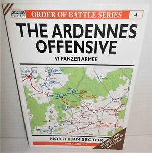 BOOK OSPREY Order of Battle #4 Ardennes Offensive VI Panzer Armee Northern Sec