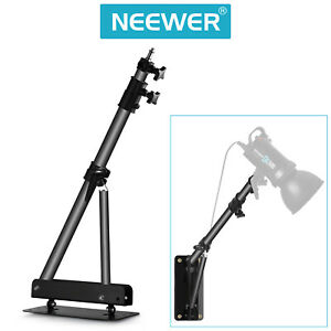 "Neewer 49"" Wall Mounting Boom Arm for Photography Video Light Monolight (Black)"