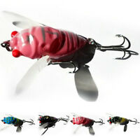 1pcs Cicada Bass Insect Fishing Lures 4cm Crank Bait Floating Tackle Crankbaits