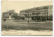 CPA - Carte Postale - Belgique - Mons - Place Léopold - 1902 (DG15524)