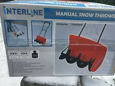 More details for interline 73161010 manual snow blower - boxed new