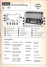 Instrucciones Manual de Servicio para Saba Wildbad 125