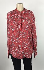 ESCADA Sport Floral Silk Blend Button Down Top Size 44 NEW $425
