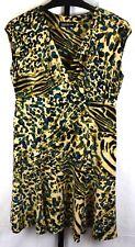 Jones New York Animal Print Cap Sleeve Dress Size 12 P