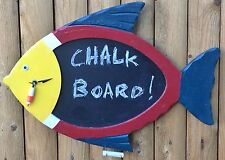 Decorative Tropical Fish Chalk Board Clock - Conclocktions