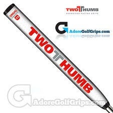 2 Thumb Snug Daddy 33 Jumbo Putter Grip - White / Red / Silver + Free Tape