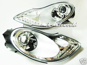 PORSCHE 986 BOXSTER 911 996 CARRERA 4 4S Turbo GT LED R8 Projector Headlights