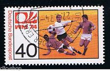 GERMANIA 1 FRANCOBOLLO CALCIO CENTROCAMPO 1974 usato