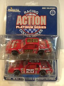 Action 1/64 1987 NASCAR Folgers Tim Richmond Both Cars - White And Gold Numbers