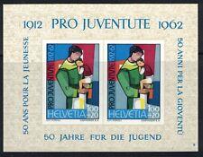Switzerland SC B23 Mother&Child-SS Imperf-50thAnniv-YouthAidFoundation MNH 1962