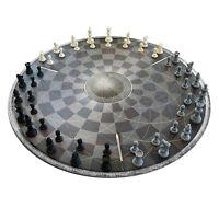 3 Personen Schach, Dreier Schach, Schachbrett für drei Spieler, Schachgeschenk