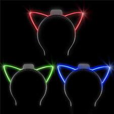 1 Dozen Light-Up Cat Ear Headband Fun Girls Costume Party Led Accessories