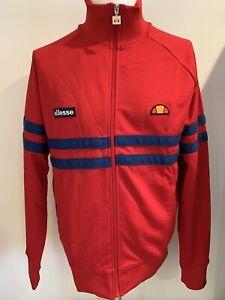 Ellesse Heritage Rimini Tracksuit Top Red Blue Classic Retro jacket size M BNWT