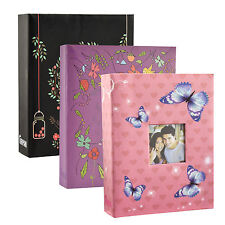 "6"" X 4"" Photo Album with 200 Pockets Black,Pink or Purple Album"