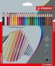 1Pack of 24 Stabilo Aquacolor Watercolour Pencils (1624-3) ART- DRAW-PAINT