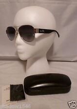 NEW COACH OLIVIA BLACK & SILVER FRAME LADY'S AVIATOR SUNGLASSES L944
