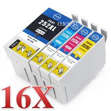 16x 252XL Ink Cartridges for Epson Workforce WF 3620 WF 3640 WF 7610 WF 7620 252
