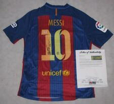 LEO MESSI Hand Signed BARCELONA  Soccer Jersey  + PSA DNA COA *BUY GENUINE*