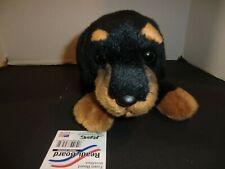 "Yomiko Classics Rottweiler dog  plush stuffed animal - very nice 16"" x 6"""