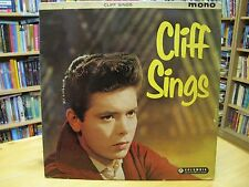 """33SX1192 1959 COLUMBIA GREEN/GOLD FIRST PRESS """"CLIFF SINGS"""" SHADOWS/NORRIE EX-"""