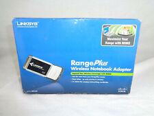 NEW Linksys Cisco Rangeplus WPC100 PC LAPTOP CARD CARDBUS WiFi 802.11G Open Box