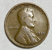 1925 Lincoln - Wheat Ears Reverse 1 Cent Coin  (1831)
