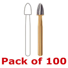 Pck Of 100 Dentsply Egg Shaped Trimampfinish Carbide Burs Midwest Type Tf 7408