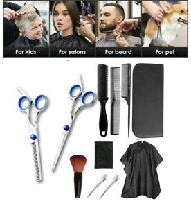 11 Pieces Professional Salon Barber Scissors Set For Hairdressing Shears