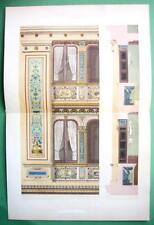 ARCHITECTURE PRINT COLOR : Paris Interior Decoration of Painter Studio