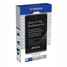 Box esterno USB 3.0 SUPERSPEED VERBATIM 53100 per Hard Disk HDD SATA 2,5''