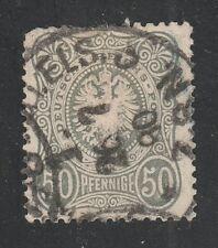 Kappysstamps 042118-26 German Empire Scott 35a Dark Green Used Retail $325
