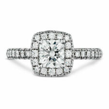 1 Ct Princess Cut D/vvs1 Diamond Solitaire Engagement Ring in 14k White Gold