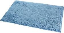 "Basics Non-Slip Microfiber Shag Bath Rug, 21"" X 34"", Lake Blue"