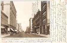 Des Moines Iowa Walnut Street Scene Historic Bldgs Antique Postcard K84444